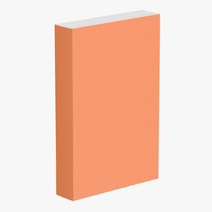 book generic standing 3d model