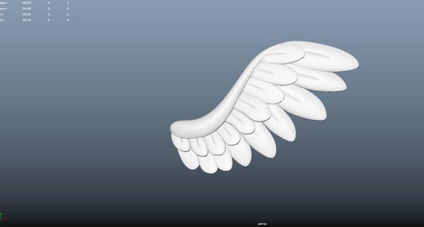 3d model of wings