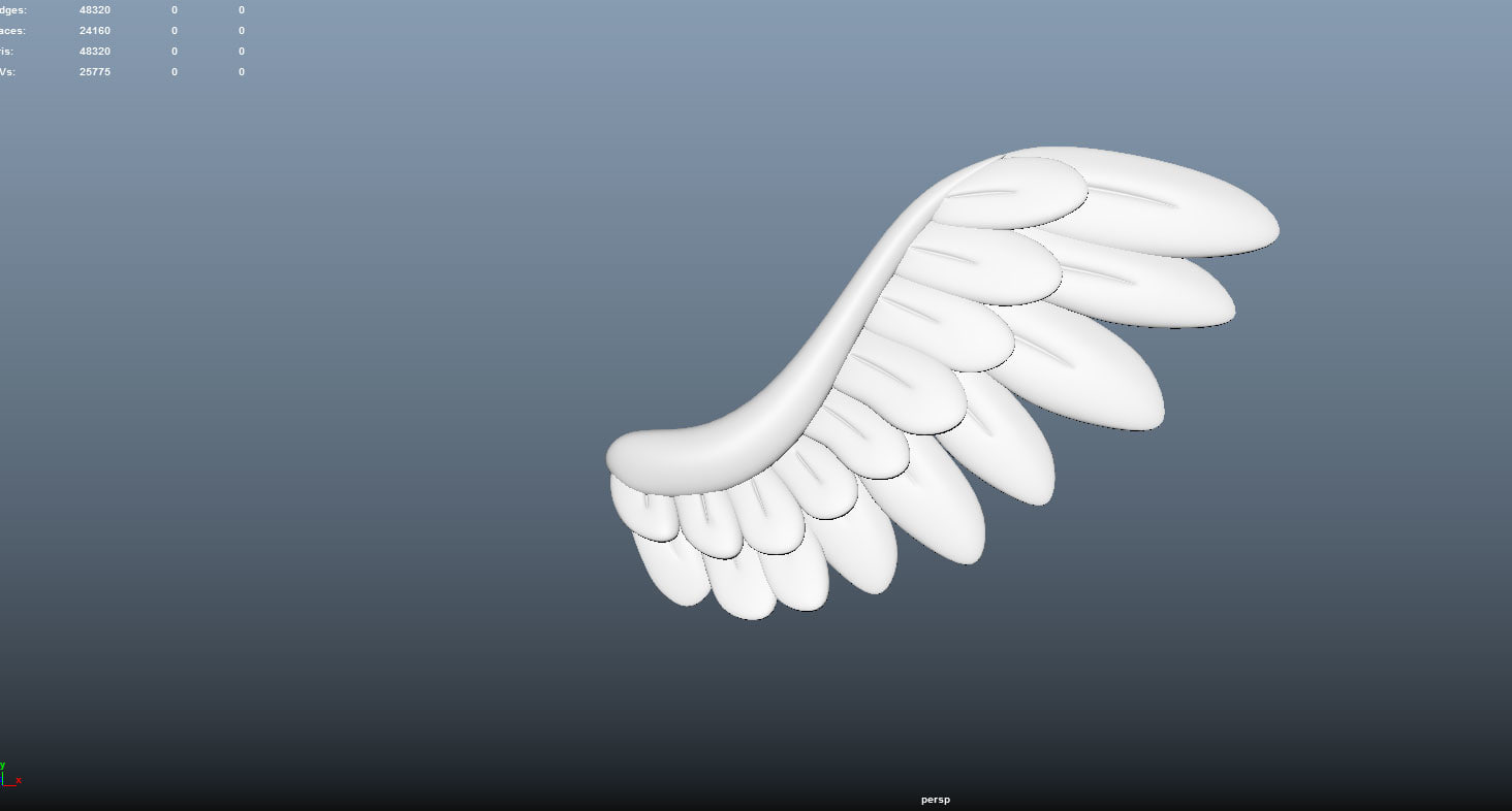 3d model of wings