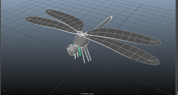 3d obj dragonfly