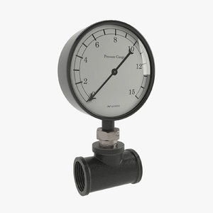 pressure gauge pipe 3d model