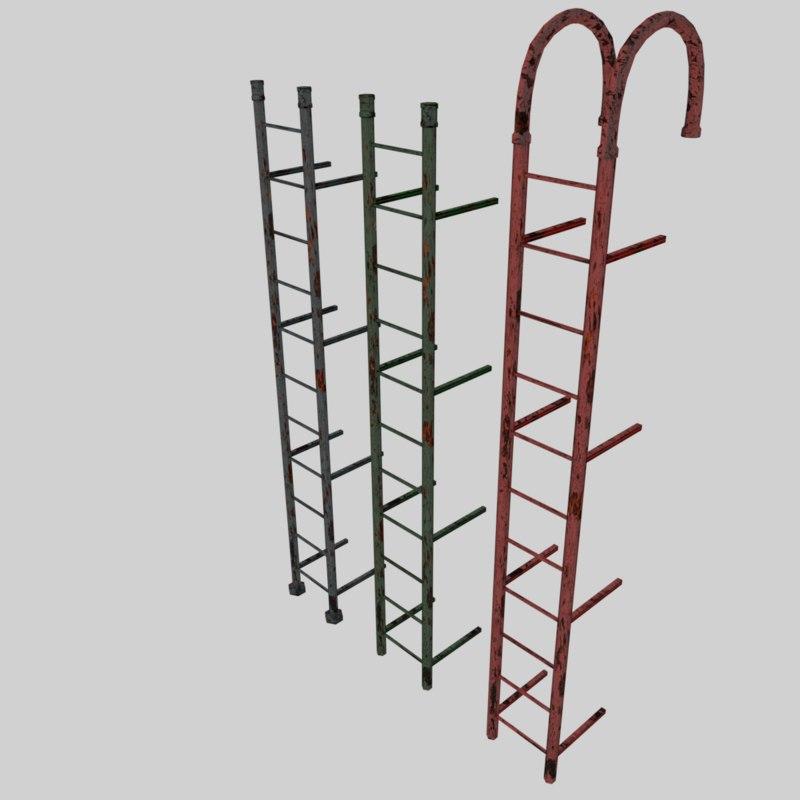 3d metal ladder model