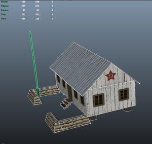 barracks world war 2 3d fbx
