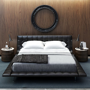 3d model poliform onda bed