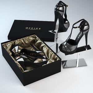 office sandals refine 3d model