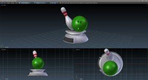 fbx simple bowling trophy