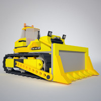 Low Poly Bulldozer