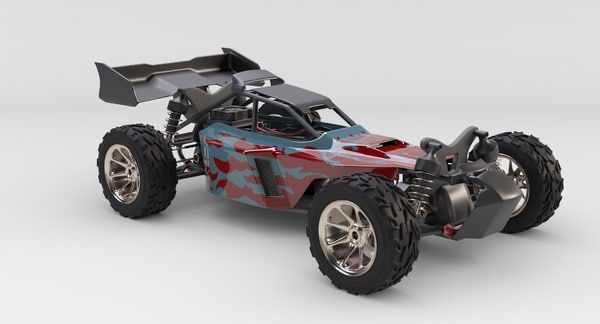 3d rc car suspension model
