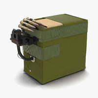 ammo box machine gun 3d model