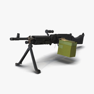 3d m240 machine gun model