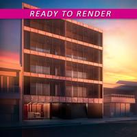 architectural scene facade 3d model