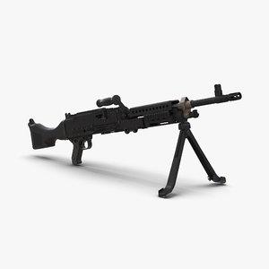 machine gun m240 3d model