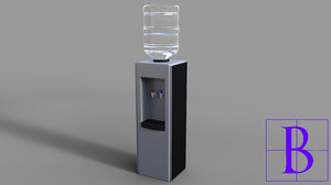 water cooler 3d 3ds
