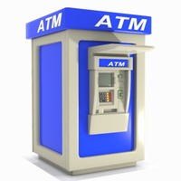 3d max atm machine cartoon