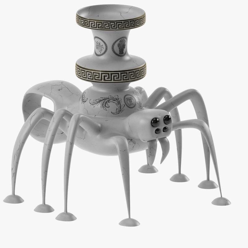 candlestick spider 3d max