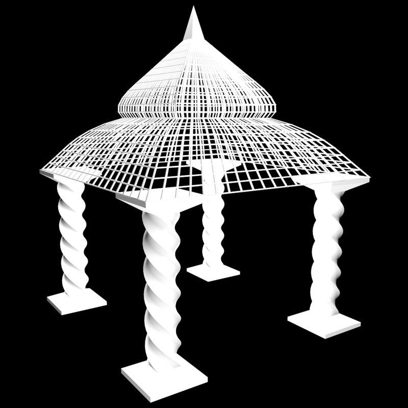 garden pagoda 3d model