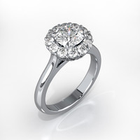 3d engagement ring gemstone
