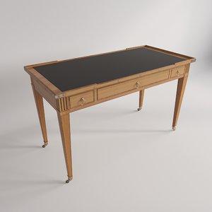 3d table ecrire louis xvi