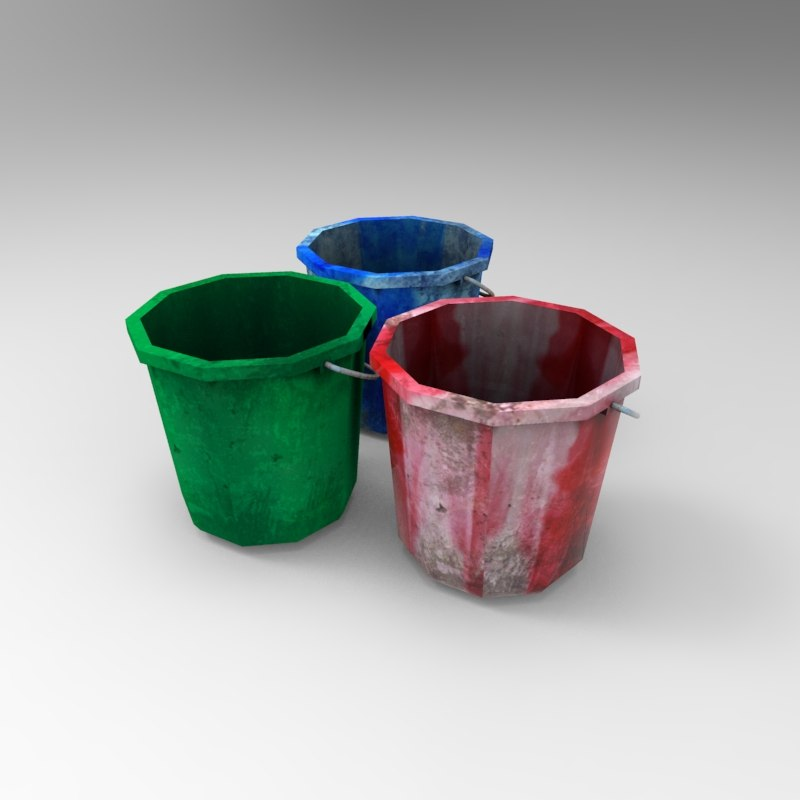 3d plastic bucket 04 model