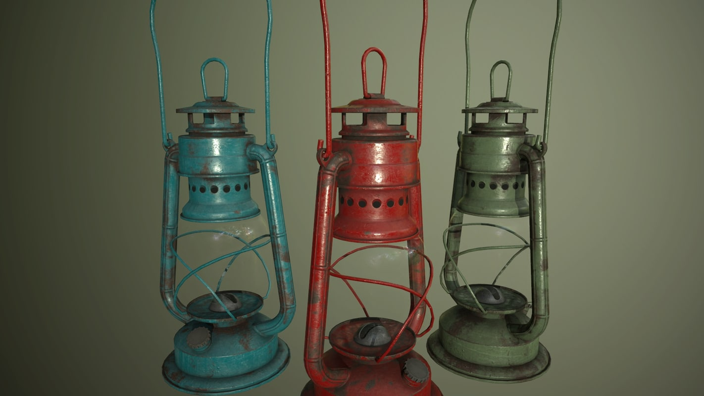 gas lamp 3d blend