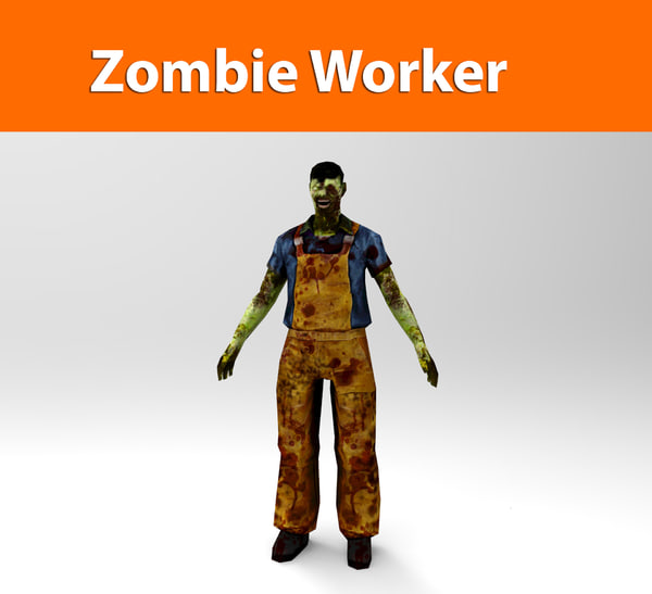 zombie worker 3d 3ds