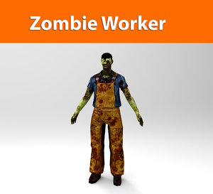 zombie worker 3d 3ds