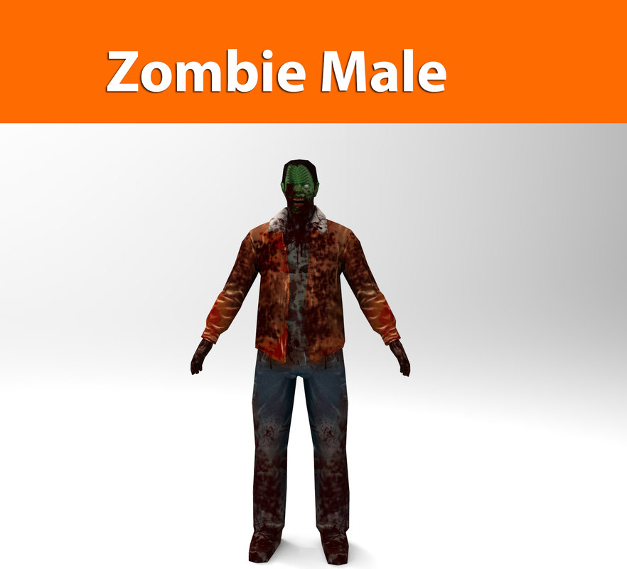 zombie male character 3d max