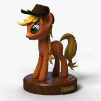 3d model little pony applejack