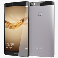 3d model of realistic huawei honor note