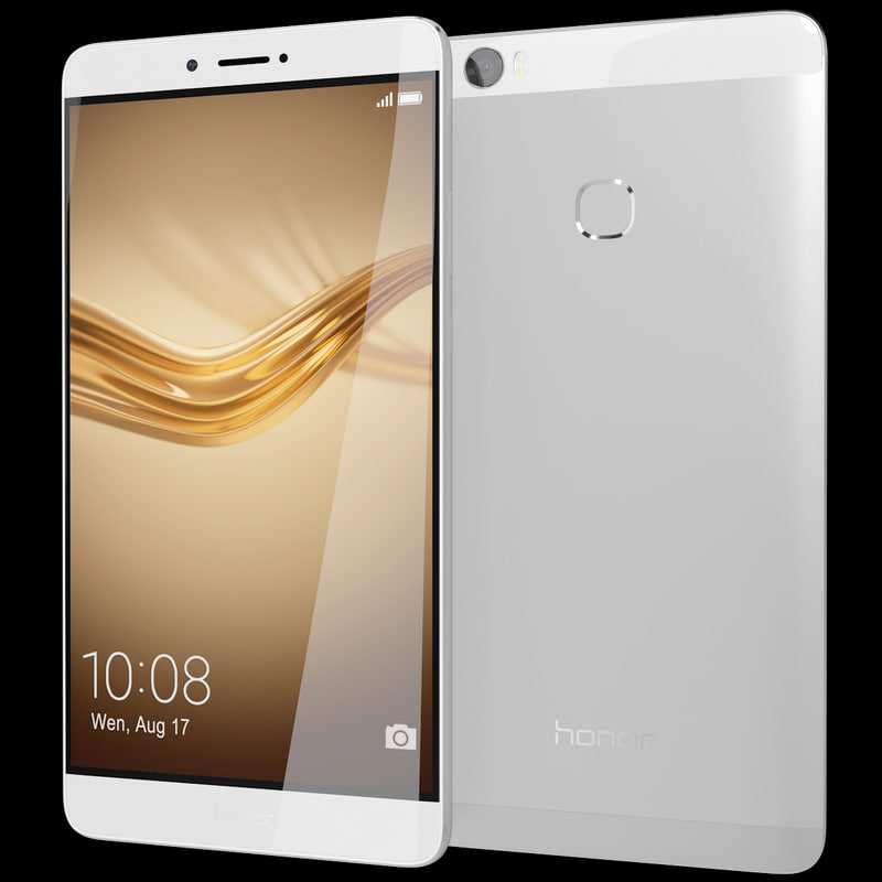 realistic huawei honor note 3d model