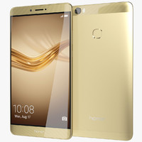 3d model realistic huawei honor note