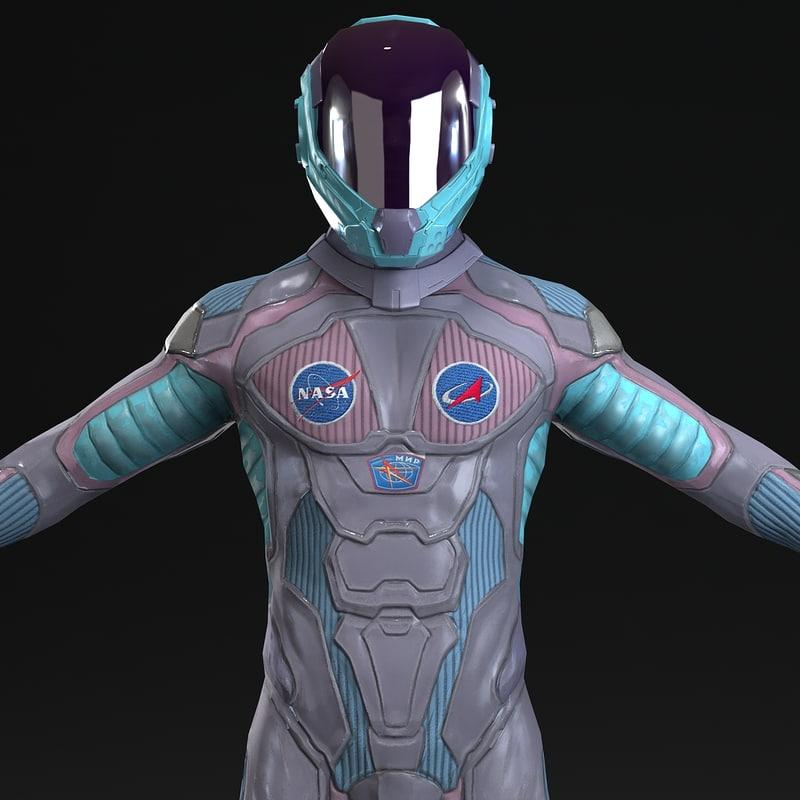3d model of astronaut