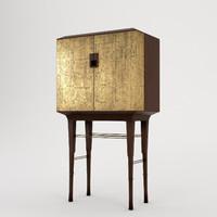3d model baker kiosk butlers cabinet