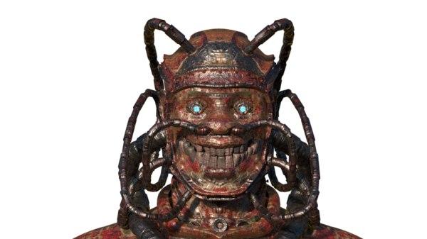 3d steampunk head