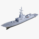 guided missile frigate 3D models