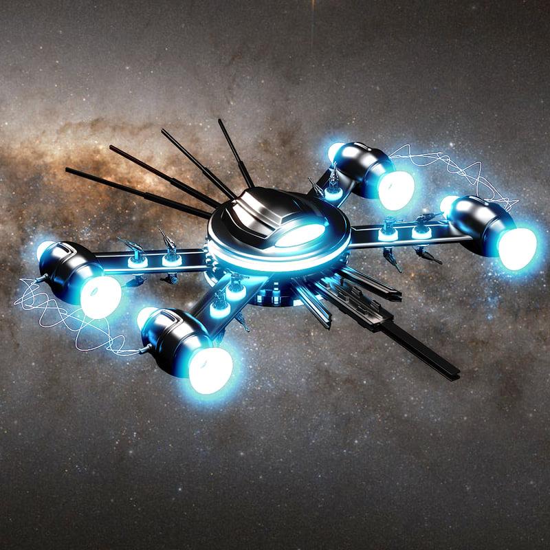 3d model sci-fi ship