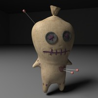3d model voodoo doll
