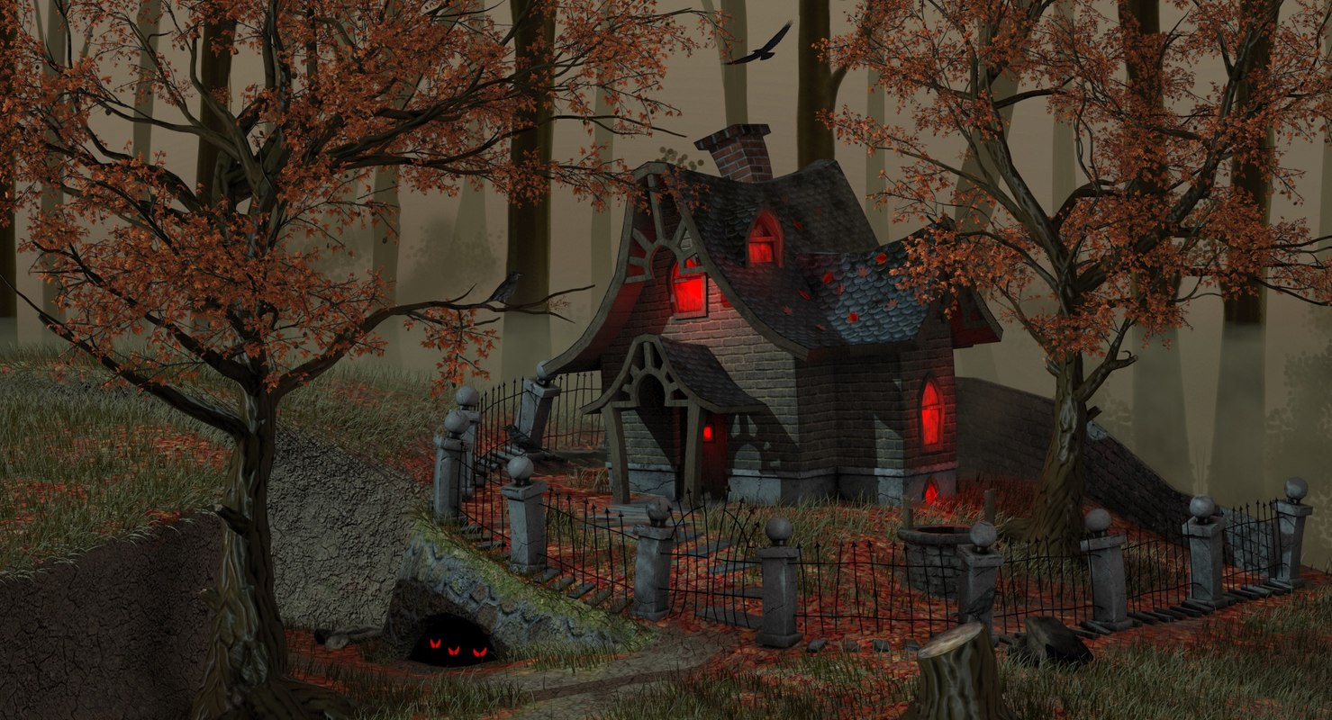 witch house 3d model