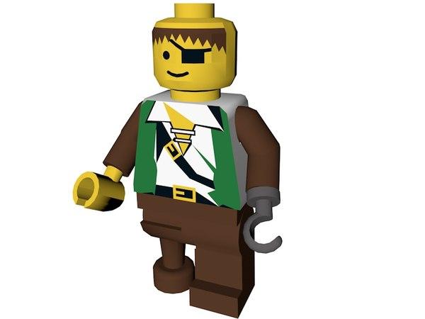 3d obj lego pirate