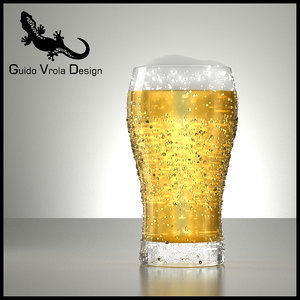 3ds fresh beer glass