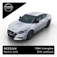 2016 nissan maxima sedan 3d model