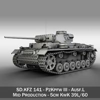panzerkampfwagen iii - l 3d model