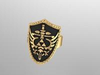 3d shield ring