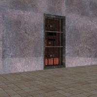 prison door 3d obj