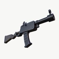 3d cartoon rifle model