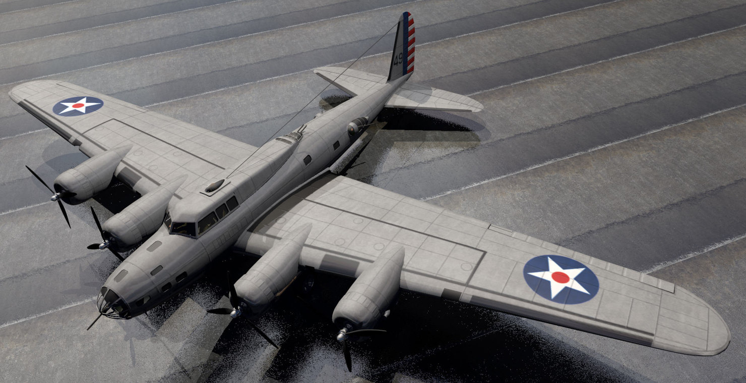 3ds b-17d fortress bomber