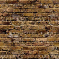 Brick wall rusty colour rough