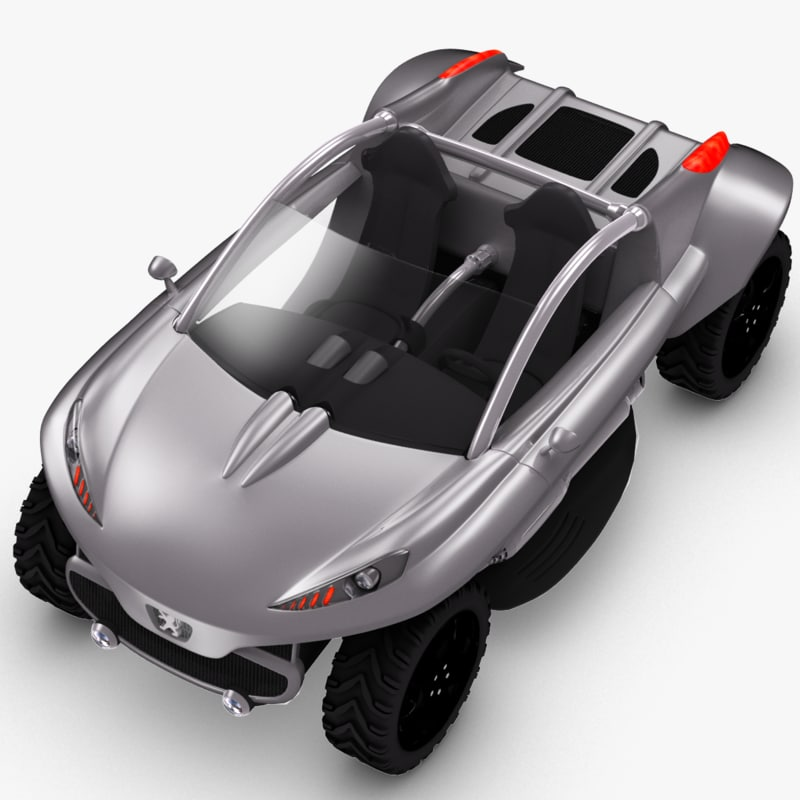 concept car peugeot hoggar 3d model