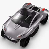 concept car peugeot hoggar 3d model