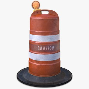 traffic drum light obj